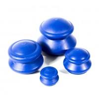 Вакуумные массажные банки Matwave резиновые (синие) 4.