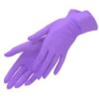 Перчатки Benovy нитриловые, сиреневые 50 пар (L)