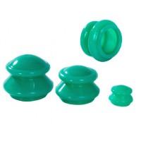 Банки для вакуумного массажа Эко 5(зеленые)