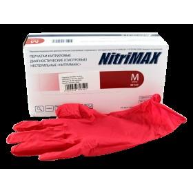 Перчатки нитриловые NitriMAX красные р. S, L (50 пар)