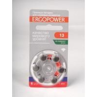 Батарейки для слуховых аппаратов EСOPOWER 13  6шт/блистер