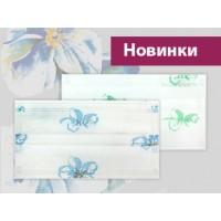 """Маски 3-х слойные с рисунком """"Нежный цветок"""""""