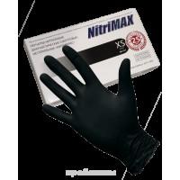 Перчатки нитриловые NitriMAX черные р. XS (50 пар)