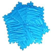 Массажный коврик- Морская волна, цвет синий.